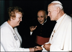 sr joan with the Pope