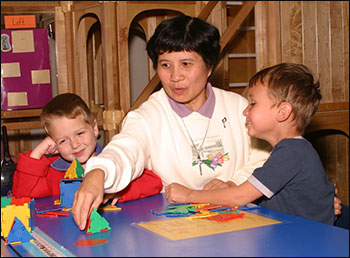 Sister Lang Tran shares the sisters' commitment to the welfare of children.