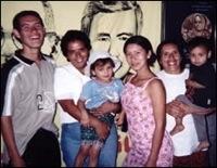 Sister Anna Delores with friends in El Salvador.