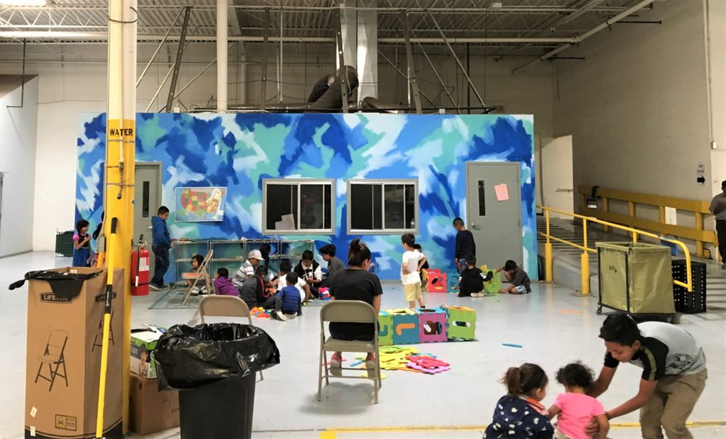 kids play area at immigration refuge
