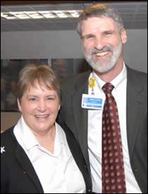 Sr. Karen with Jerry Hunter