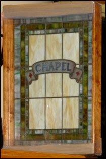 window from Sr. Clare's beloved chapel