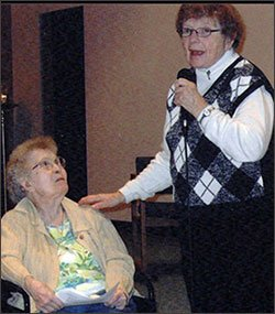 Sisters Jeanette Parent and Lily May Emert