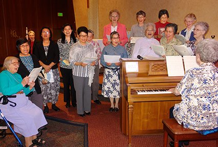 Choir of sisters welcome the new members