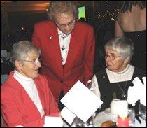 Srs. Elizabeth Gress, Dorothy Byrne and Inez Arkell