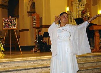 Sister Margarita Hernandez performs liturgical dance