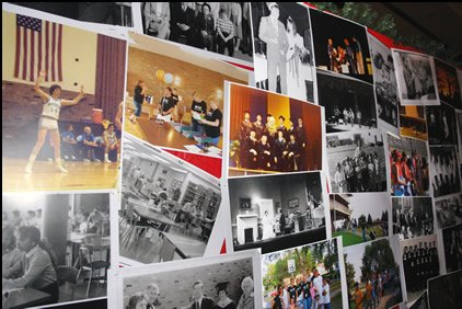 Displays of historical photos
